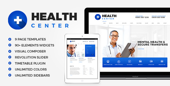 HealthCenter - Medical WordPress theme